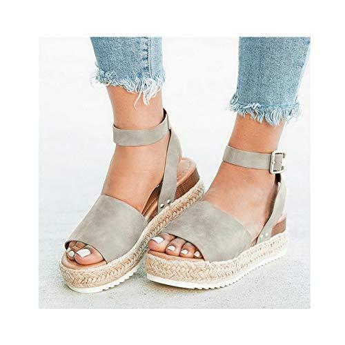Wedges Shoes for Women SandalsHigh Heels Summer Shoes Leopard Slides Platform Sandals(G,11)