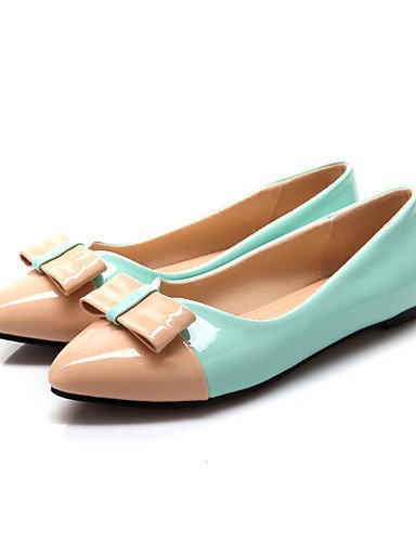 PDX/ Damenschuhe-Ballerinas-Büro / Kleid / Lässig-Lackleder-Flacher Absatz-Ballerina / Komfort-Grün / Rot / Weiß / Orange , white-us6.5-7 / eu37 / uk4.5-5 / cn37 , white-us6.5-7 / eu37 / uk4.5-5 / cn3
