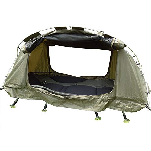 Dygzh Winter Tent 4 Season Off Ground Tent Double-Layer Anti-Storm Camping Tent Cot Outdoor Fishing Bed for 1 Person…