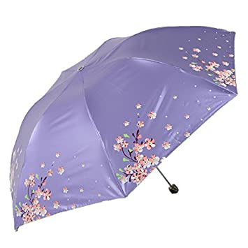 HAN-NMC anti rayos ultravioleta sol paraguas PARAGUAS paraguas paraguas Mini ,Lavanda