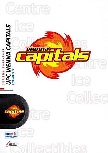 (CI) UPC Vienna Capitals, Checklist Hockey Card 2015-16 Erste Bank Eishockey Liga EBEL (base) 217 UPC Vienna Capitals, Checklist