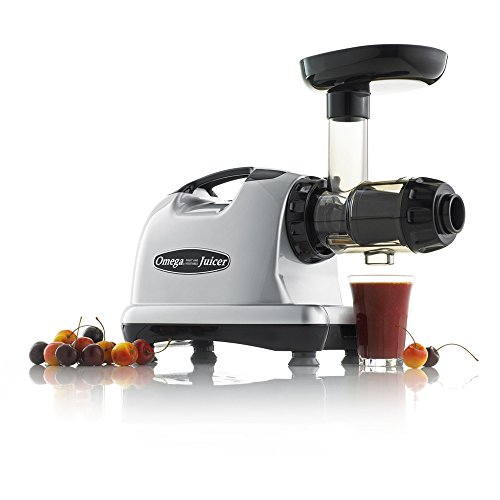 Omega J8006 Nutrition Center Quiet Dual-Stage Slow Speed Masticating Juicer Creates Continuous ...