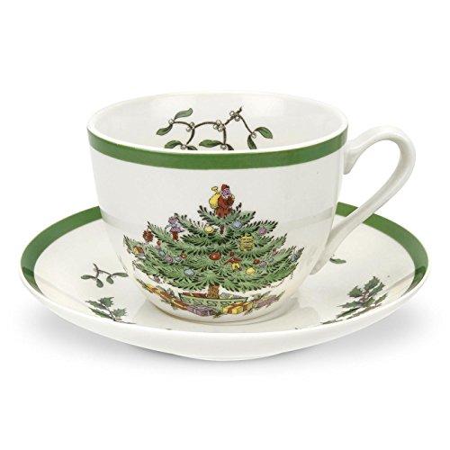 (Spode Christmas Tree Teacup and Saucer,Set of)