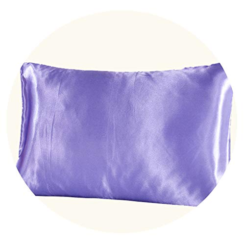 5176cm Polyester Pure Pillowcase Silk Pillow Case Soft for Hair,Purple 1pc,510x760mm ()