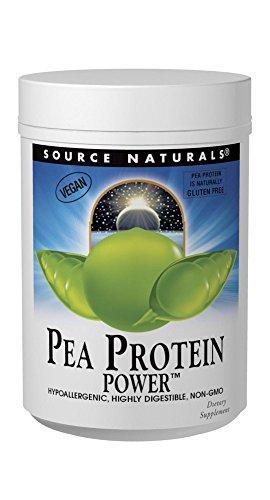 Source Naturals Pea Protein Powder 100% Hypoallergenic, Gluten Free & Vegan Friendly Plant Based Nutrition - 32 oz