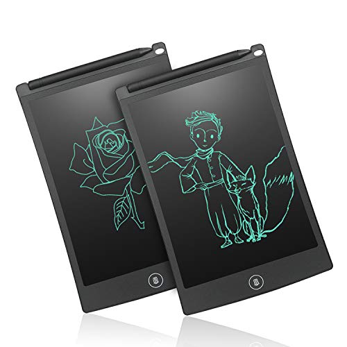 - NEWYES 8.5-Inch LCD Writing Tablet-Can Be Used as Office Whiteboard Bulletin Board Kitchen Memo Notice Fridge Board Large Daily Planner Gifts for Kids- Black-2pcs