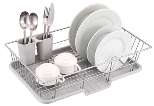 "Sweet Home Collection 3 Piece Dish Drainer Rack Set, 12"" x 1"