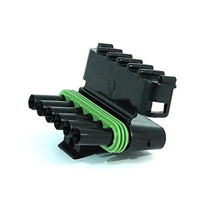 Delphi Packard (6 Circuits) Weatherpack, Waterproof, Terminal Kit 14, 16 AWG: Automotive