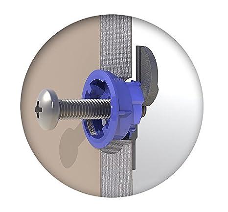 paquete de 25 Fijaciones para pladur GripIt Azul 25mm para paredes de entramado carga m/áxima 113 Kg