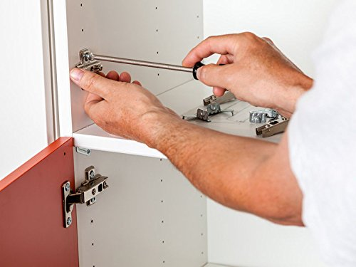 AUTOUTLET 20PCS Soft Close Kitchen Cabinet Door Hinges Hydraulic Slow Shut Clip-On Plate 35mm for B&Q, Ikea, Mfi, Wickes by AUTOUTLET (Image #2)