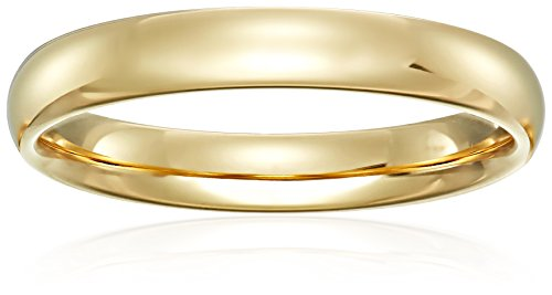 Standard Comfort Fit 18K Gold Wedding Band, 4mm