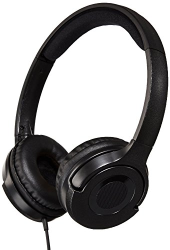 AmazonBasics Lightweight On Ear Headphones Black