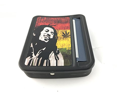 (CiGuru TRM013P 70mm Plastic Automatic Cigarette Maker Cigarette Rolling Machine Tobacco Roller Roll Tobacco Rolling Machine Tobacco Box Tobacco Case & Tobacco Storage Box Bob Marley)