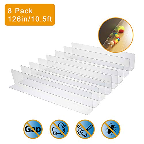 - UPSTONE 8-Pack Toy Blocker, Gap Bumper for Under Furniture, BPA Free Safe PVC with Strong Adhesive, Stop Things Going Under Sofa Couch or Bed, Easy to Install