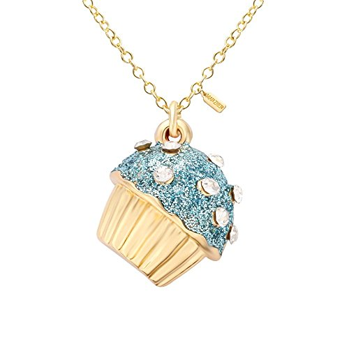 - MANZHEN 12 Colors Cupcake Crystal Enamel Pendant Necklace in Elegant Gift Box (4)