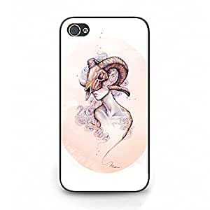 Iphone 4 4s Case,Zodiac Case,Creative Design Zodiac Series Aries Premium Exquisite Printed Hard Phone Case for Iphone 4 4s