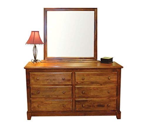 Forest Designs Shaker Beveled Mirror for Dressers, 38W x 38H, Honey Oak - Honey Oak Dresser