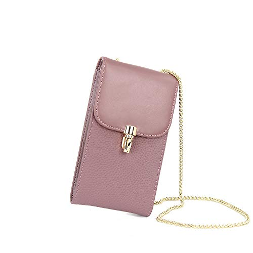 Purple diagonale Bag Cross litchi catena pelle di Borsa Tote borsetta in pI0qw