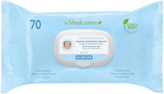 Klorane - Toallitas Klorane Pack 1 x 70 uds: Amazon.es: Hogar