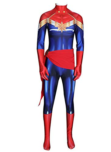 Captain Marvel Bodysuit Carol Danvers Cosplay One Piece