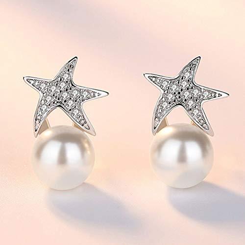 - Women Elegant Fashion Charm Earrings Stud Rhinestone Star Faux Pearl Jewelry Necklace Jewelry Crafting Key Chain Bracelet Pendants Accessories Best