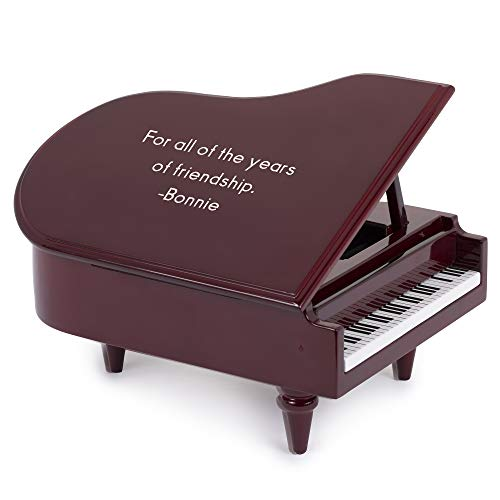 Box Piano - Things Remembered Personalized Mahogany Piano Shaped Music Box with Engraving Included