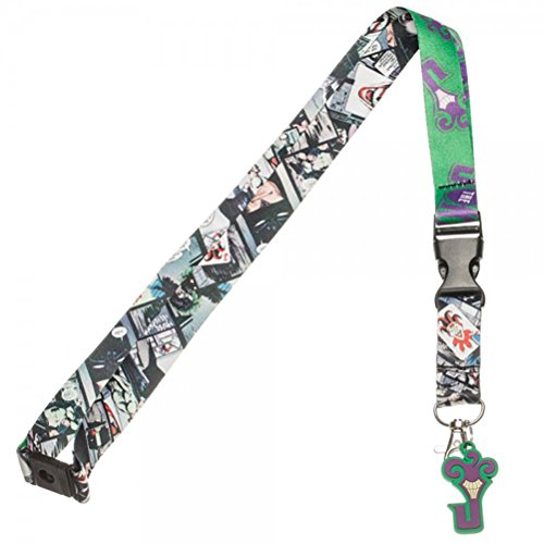 DC Comics Batman The Joker Lanyard with Rubber Charm (Halloween Horror Nights Annual Pass)