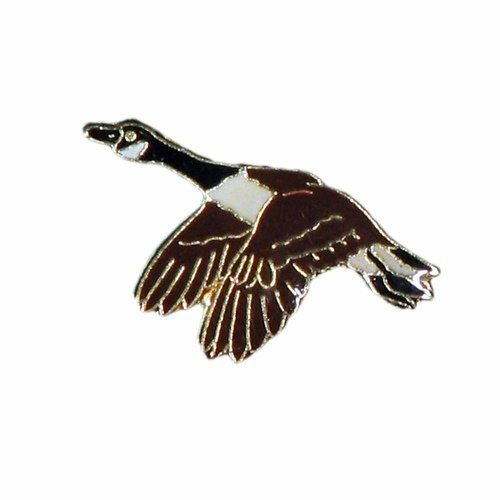 SUPERDAVES SUPERSTORE Goose Wildlife Small Metal Lapel Pin Badge 1 X 1/2 Inches New