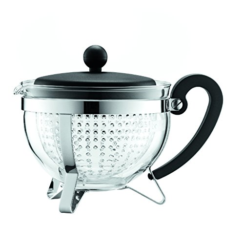 Bodum Chambord 1-Liter Tea Pot, 34-Ounce, Black