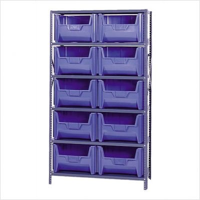 Giant Stack Container Shelf Storage Systems with Medium Bins Color: (Giant Stack Container Shelf Storage)