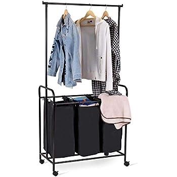 Amazon.com: tangkula perchero casa con para la ropa sucia de ...