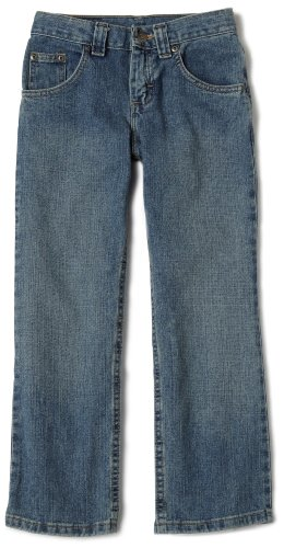 Lee Big Boys' Relaxed Fit Straight Leg Jeans,Worn Handsand,16  Regular ()