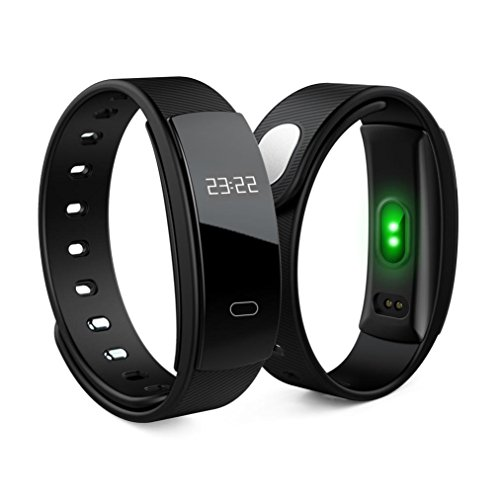 20 Heart Rate Monitor Watch (MChoice QS80 Bluetooth Smart Watch Bracelet Fitness Heart Rate Monitor For Android Ios (Black))