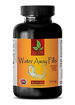 metabolism advantage - WATER AWAY PILLS 700 Mg - PREMIUM HERBAL BLEND - water away supplement - 1 Bottle (60 Capsules)