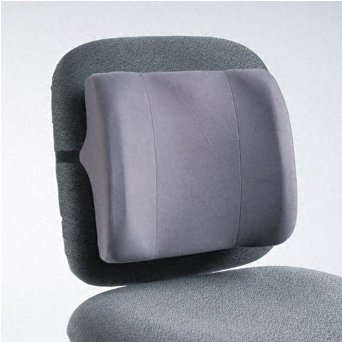 Fellowes : High-Profile Backrest with Soft Brushed Cover, 13w x 4d x 12-5/8h, Graphite -:- Sold as 2 Packs of - 1 - / - Total of 2 Each (Fellowes High Profile Backrest)