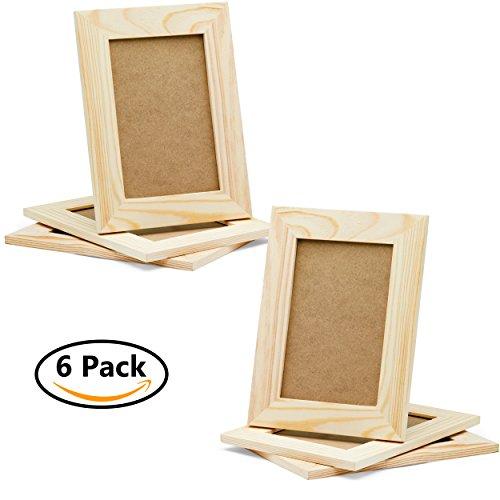 Diy Picture Frames 4x6 Craft Frames Set Unfinished Solid Pine Wood