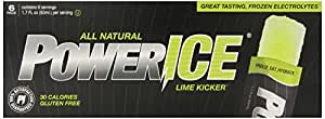 PowerICE Enhanced Frozen Hydrator All Natural Freezer Bars, Lime, 1.7 Fl Ounce (Pack of 36)