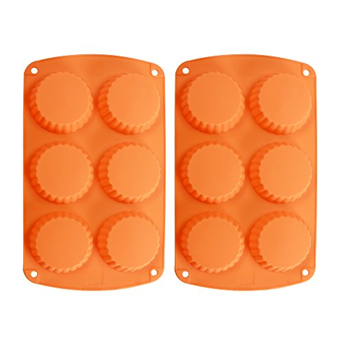 Butter Peanut Pan (Webake 2-Pack Silicone Tart Pan Mold Quiche Pan 6-Cavity Tartlet Pan (Tart pan))