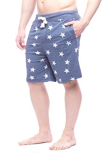 Alki'i Men's Americana Lounge Shorts With Pockets, Denim L