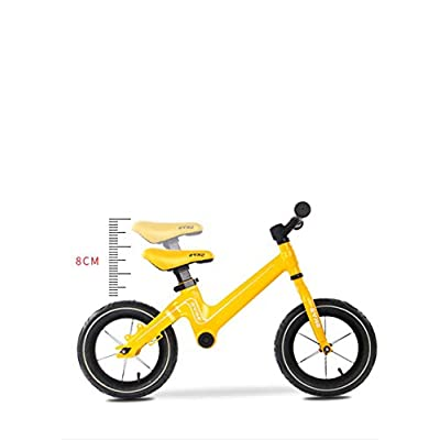 LINGS Foldable Bicycle Kids' Bikes Children's car Alloy Child Bicycle Without Pedal 2-6 Years Old Baby Slide Slip Bike 12 inch: Home & Kitchen