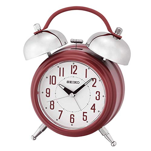 SEIKO Blue Dual Bell Extra Loud Alarm Clock, Quiet Sweep/Snooze QHK051RLH