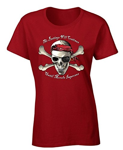 Women's Beatings Will Continue Until Morale Improves T-shirt Pirate Skull Shirt