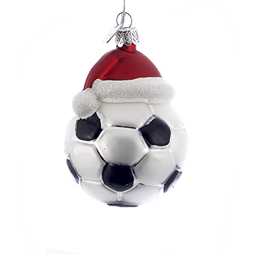 Santa Glass Ball Ornament - 3