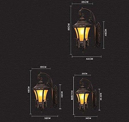 Giow Impermeabilización: Pared Exterior Vintage, Piscina, balcón, Patio, lámpara, Extensible, terraza, Puerta del Hotel, Pasillo, luz, Escalera, Exterior, selección E27: Amazon.es: Hogar