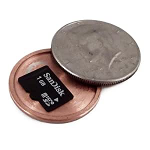 (2gb MicroSD Bundle) US Mint ½ Dollar - Micro SD Card Covert Coin - Secret Compartment US Half-Dollar