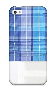 Cynthaskey HwxVbIp10169yqqWg Case Cover Iphone 5c Protective Case Plaid Blue Roman Shade