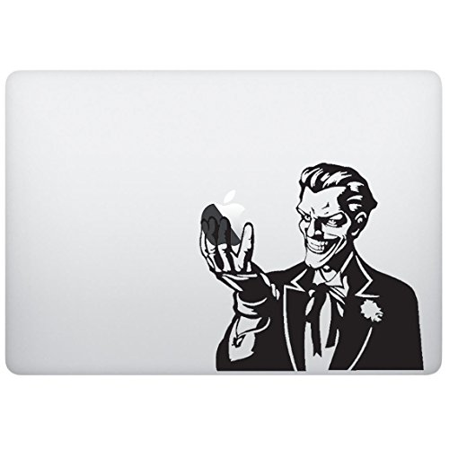 Sticker decal with fictional supervillain design, Computer Sticker, Laptop Sticker, Macbook Sticker, Ipad Sticker, Computer Decal, Laptop Decal, Ipad Decal. Cool Accessories for Laptop, - Tracking Number Dc