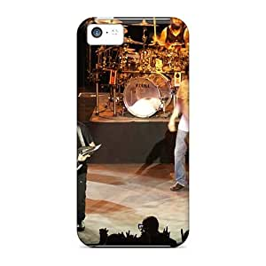 Shock-Absorbing Hard Phone Cases For Iphone 5c With Customized Fashion Metallica Image KellyLast