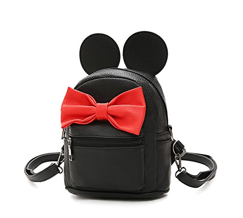 - Sunwel Fashion Bag Outdoor Shopper School Bookbag Casual Shoulder Pu Tide Traveling Cute Bow Small Backpack