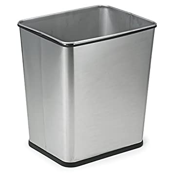 Amazon.com: Polder 1410-47 Under-Counter 7-Gallon Square Trash Can ...